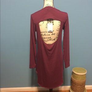 LNA Cut Out Back Dress